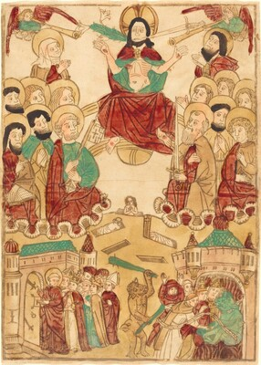 The Last Judgment with the Apostles