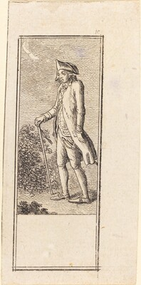 Young Man with Cane