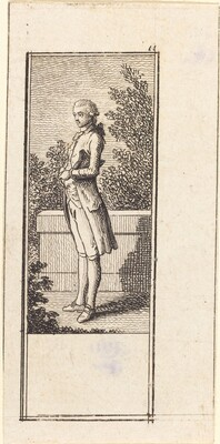 Young Man with Hat under Arm
