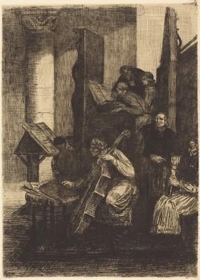 Choir in a Spanish Church (Le choeur d'une eglise espagnole)