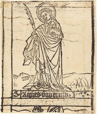 Saint Agnes [verso]