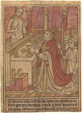 The Mass of Saint Gregory [recto]