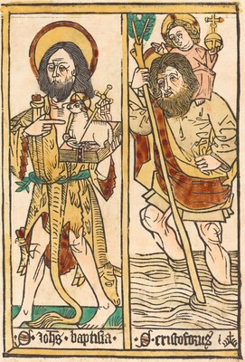 Saint John the Baptist and Saint Christopher