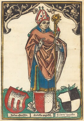 Bishop of Augsburg with Three Coats of Arms