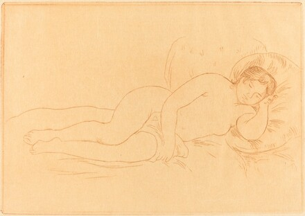 Female Nude Reclining (Femme nue couchee)