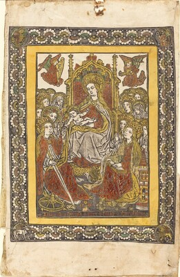 The Madonna Enthroned with Eighteen Holy Women