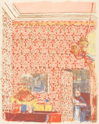 Interior with Pink Wallpaper I (Interieur aux tentures roses I)
