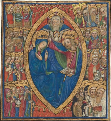 Coronation of the Virgin with the Trinity  and Saints