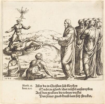 Christ Heals a Blind and Dumb Demoniac