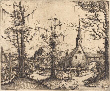 Landscape with a Village Church