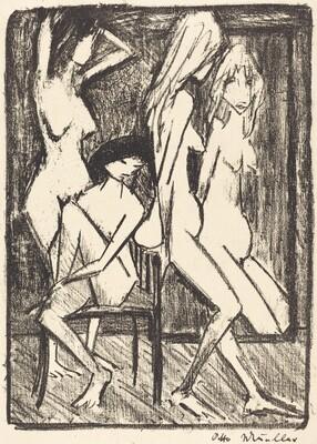 Three Girls in front of a Mirror (Drei Madchen vor dem Speigel)