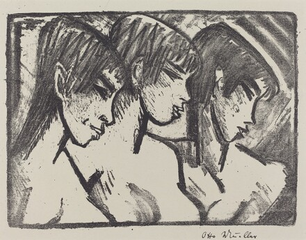 Three Girls in Profile (Drei Madchen im Profile)