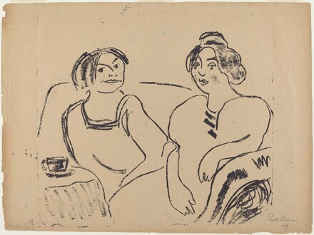 Two Women on a Sofa
