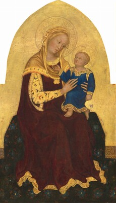 Gentile da Fabriano, Madonna and Child Enthroned, c. 1420c. 1420