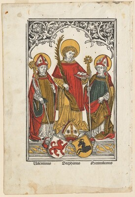 Saint Valentine, Saint Stephen and Saint Maximilian