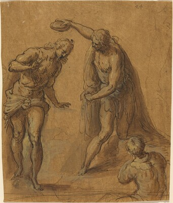 Sketch for a Baptism of Christ