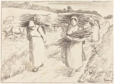 Peasants Carrying Sticks (Paysannes portant des fagots)