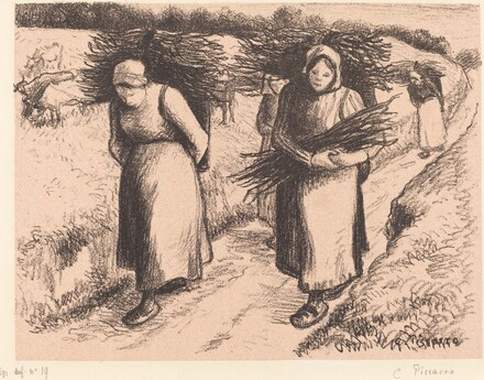 Peasants Carrying Sticks (Paysannes portant des fagots)