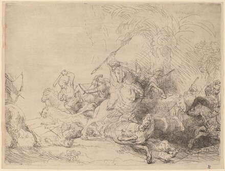 The Large Lion Hunt