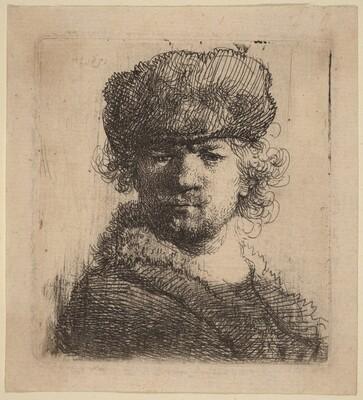 Self-Portrait in a Heavy Fur Cap