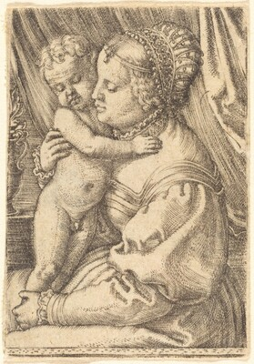 Madonna with Flower Vase