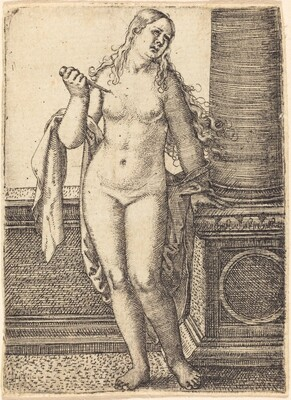 Lucretia Standing at a Column