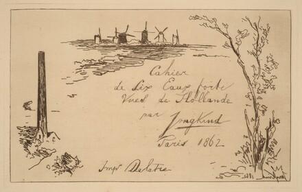 Title Page (Titre du cahier de six eaux-fortes)