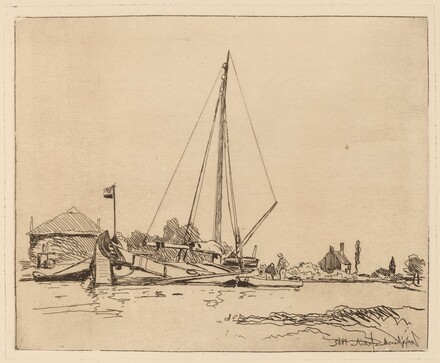 The Moored Boat (La Barque amarree)