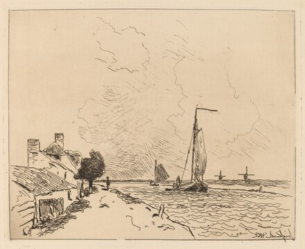 Two Boats at Sail (Les deux Barques a voile)