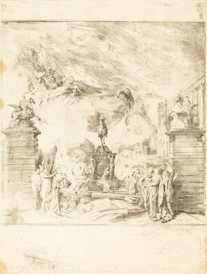 Allegorie sur l'Erection de la Statue de Louis XV (Allegory on the Establishment of a