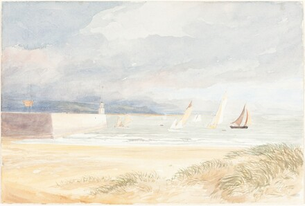Shore Scene with Sailboats (Portland, Dorset?)