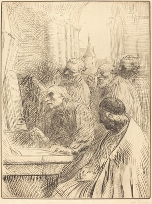 Monks at Church (Les moines a l'eglise)