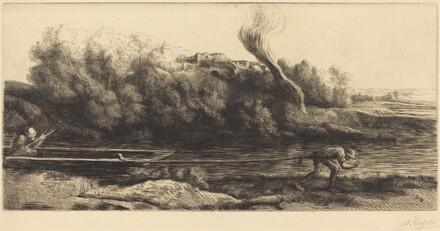 Landscape with Boat, 2nd plate (Paysage au bateau)