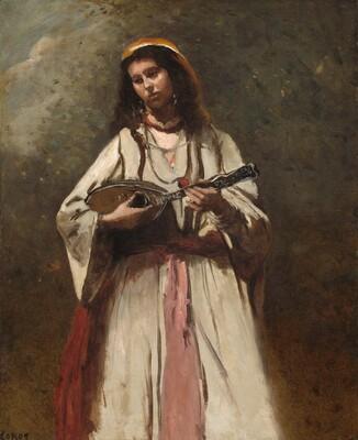 Gypsy Girl with Mandolin