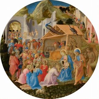 Fra Angelico and Fra Filippo Lippi, The Adoration of the Magi, c. 1440/1460