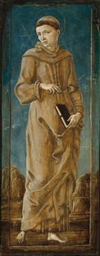 Saint Francis [far left panel]