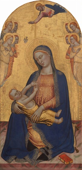 Madonna and Child with God the Father Blessing and Angels
