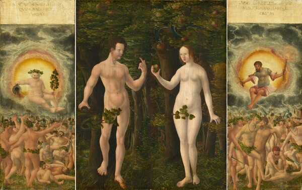 The Rule of Bacchus [left panel]
