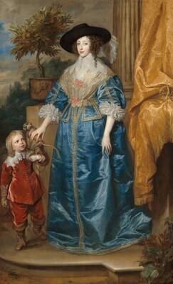 Queen Henrietta Maria with Sir Jeffrey Hudson