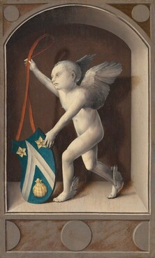 Putto with Arms of Jacques Coëne [reverse]