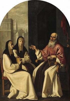 Saint Jerome with Saint Paula and Saint Eustochium