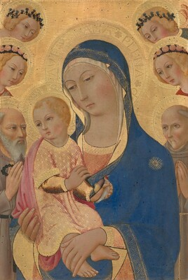 Madonna and Child with Saint Jerome, Saint Bernardino, and Angels