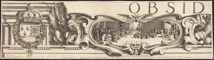 The Siege of La Rochelle [plate 1 of 16;  set comprises 1952.8.97-112]
