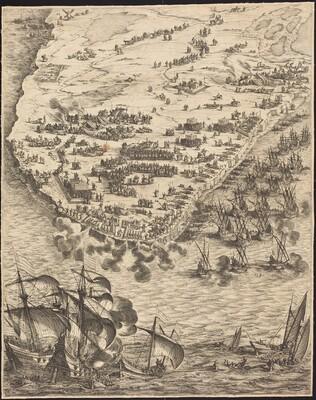 The Siege of La Rochelle [plate 10 of 16; set comprises 1952.8.97-112]