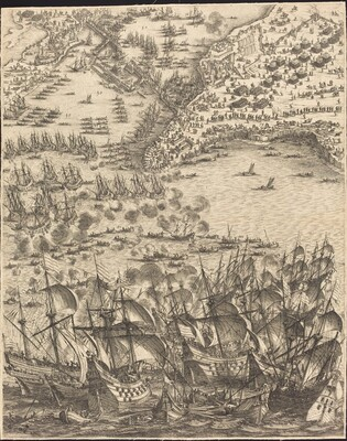 The Siege of La Rochelle [plate 11 of 16; set comprises 1952.8.97-112]