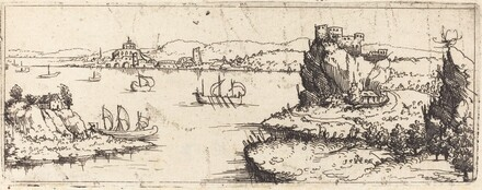 Landscape with Sail Boats [bottom plate]