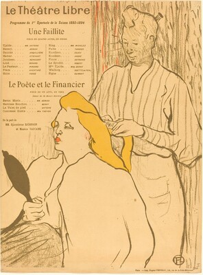 The Hairdresser - Program for the Theatre-Libre (Le coiffeur - Programme du Théatre-Libre)