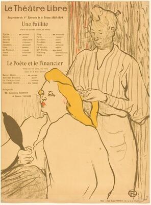 The Hairdresser - Program for the Theatre-Libre (Le coiffeur - Programme du Théatre-Libre)
