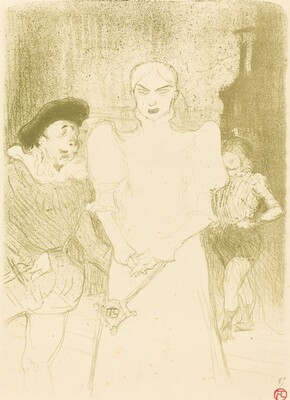At the Opera: Mme. Caron in Faust (A l'opéra: Mme. Caron dans Faust)