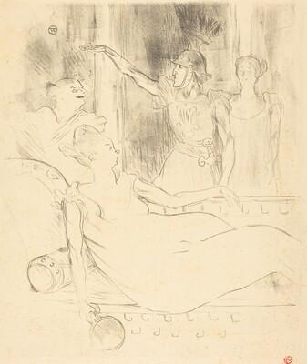 Mme. Simon-Girard, Brasseur, and Guy in La belle Helene (Mme. Simon-Girard, Brasseur et Guy dans La belle Hélène)